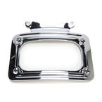 Chrome Curved License Plate Frame - 13124