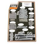 Chrome Knurled Allen Show Bike Bolt Kit - 1016