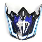 Blue/White/Black Visor for VFX-W Capacitor TC-2 Helmets - 0245-6090-02