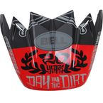 Matte Black/Red 20 Visor for Moto-9 Fasthouse Day in the Dirt LE Helmet - 7095790