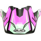 Semi-Flat Pink/Green/Black Visor for CS-MX 2 Madax MC-84SF Helme - 332-849