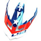 Red/White/Blue Visor for Subverter Krome Glory Helmets - 03-412