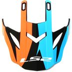 Matte Blue/Orange/Black Visor for Fast/Fast Mini Twoface Helmets - 03-414