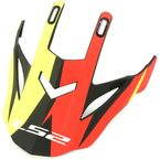 Matte Red/Hi-Viz/Black Visor for Fast/Fast Mini Twoface Helmets - 03-415
