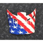Red/White/Blue Visor for F5 Patriot Helmets - 3873-000-000-011