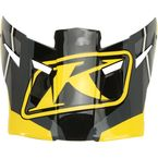 Yellow Visor for F5 Jet Helmets - 3873-000-000-012