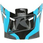 Vivid Blue Visor for F5 Jet Helmets - 3873-000-000-013
