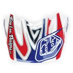 Red/White/Blue Reflection Visor for SE3 Helmet - 152006100