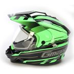 Black/Hi-Viz Green GM11S Trekka Snow Sport Snowmobile Helmet - 72-7134L