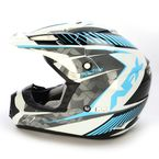 Pearl White/Blue FX-17 Factor Helmet - 0110-4508