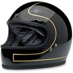 Gloss Black/Gold Tracker Gringo Helmet - GH-GBG-LETRK MD