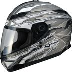 Flat Titanium/White/Black GM78S Firestarter Full Face Helmet - 72-49172X