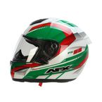 White/Green/Red FX-95 Italy Helmet  - 0101-9598