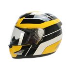 Yellow/Black/White FX-95 Vintage Yamaha Helmet - 0101-9628