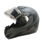 Matte Gray/Black Tranz RSV Chronos Modular Snow Helmet w/Electric Shield - 505432