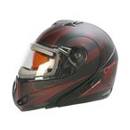 Matte Black/Red/Gray Tranz RSV Tribe Modular Snow Helmet w/Electric Shield - 505512