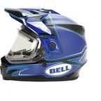 Gloss Blue/Matte Black MX-9 Adventure Blockade Snow Helmet w/Electric Shield - 7075778