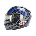 Blue/Titanium/Black Qualifier Machine Snow Helmet w/Electric Shield  - 7076132