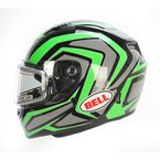 Green/Titanium/Black Qualifier Machine Snow Helmet w/Electric Shield  - 7076142