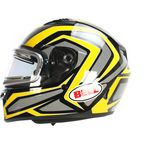 Yellow/Titanium/Black Qualifier Machine Snow Helmet w/Electric Shield  - 7076215