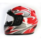 Red Full Face Helmet - 26-683R-15