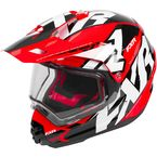 Black/Red/White Torque X Core Helmet w/Electric Shield - 180610-1020-13