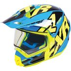 Blue/Hi-Vis/Black Torque X Core Helmet w/Electric Shield - 180610-4065-16