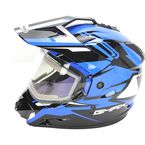 Black/Blue GM11S Vertical Snow Sport Snowmobile Helmet w/Electric Shield - G2111216 TC2 ELEC