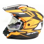 Flat Black/Hi-Vis Orange GM11S Vertical Snow Sport Snowmobile Helmet w/Electric Shield - G2111696 F.TC26 ELEC