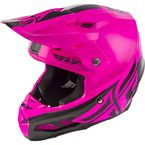 Black/Pink F2 Carbon MIPS Shield Helmet - 73-4249L