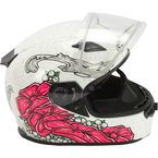 White/Pink/Black FF49S Yarrow Helmet w/Dual Lens Shield - G2494406