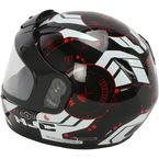 Youth Black/White/Red CL-YSN Simitic MC-1 Snow Helmet w/Dual Lens Shield - 239-914