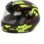 Youth Black/Hi-Viz Green/Red  CL-YSN Simitic MC-4H Snow Helmet w/Dual Lens Shield - 239-944