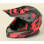 Youth Matte Pink/Black/Gray TX019Y Wired Helmet - 511244