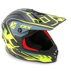 Youth Matte Yellow/Black/Gray TX019Y Wired Helmet - 511253