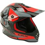 Youth Black/Red/Dark Silver TX019Y Force Helmet - 512794