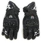 Black GP Pro R2 Leather Gloves - 3556717-10-L