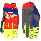 Blue/Red/Fl. Yellow Techstar Gloves - 3561018-7355-LG