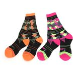 Women's Multi Color Camo Turbo Athletic Socks - 171641-9006-00