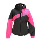 Women's Charcoal/Pink/Jade Mirage Backcountry Jacket - L17305_CHCPI_L