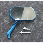 Blue Anodized Forged Oval Right Mirror - 13-177