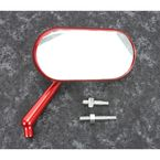 Red Anodized Forged Oval Right Mirror - 13-179