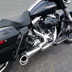 Chrome/Black 2-Into-1 Turnout Exhaust System - HD00837