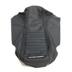 Black Pleated Extreme Gripper Seat Cover - MXH-194-0001