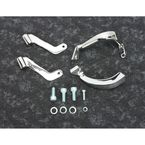 Chrome Footboard Mount Bracket Set - 27-1726