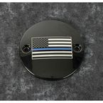 Black Blue Line American Flag Timing Cover - LE03-63BG