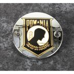 Chrome POW-MIA Timing Cover w/Gold Accent - POW05-63