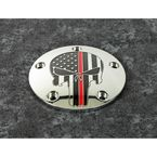 Chrome Red Line Skull Timing Cover - FF13-04