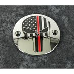 Chrome Red Line Skull Timing Cover - FF13-63