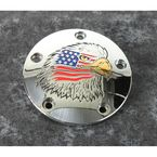 Chrome Stars and Stripes Eagle Timing Cover - PATR04-04